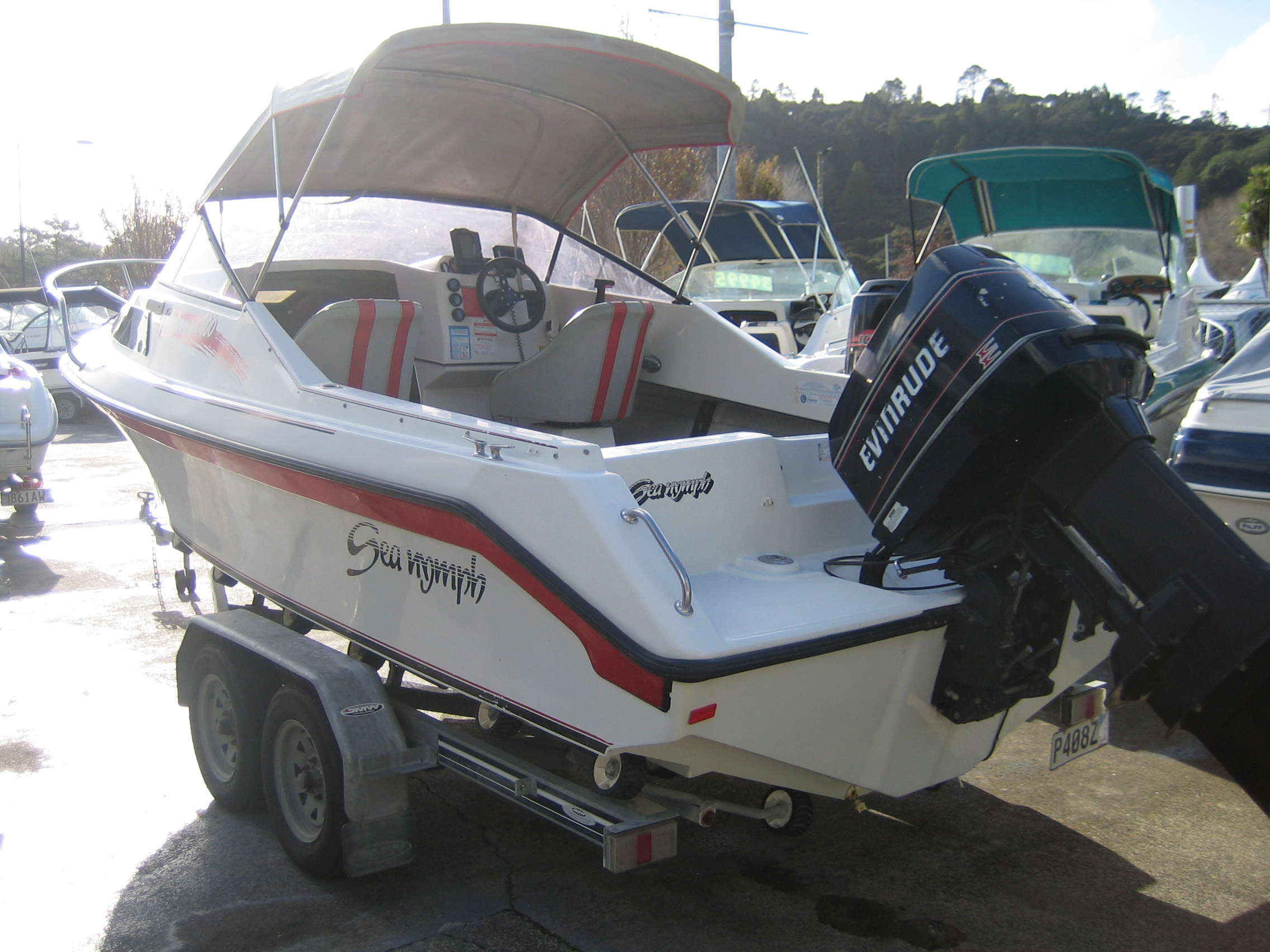 Boat for sale seanymph 600 fisherman 1994 for Outboard motors for sale nz