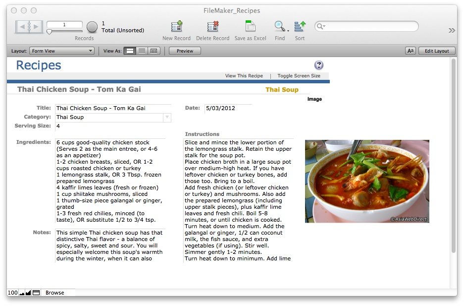 Filemaker Pro Document Management Templates: Full Version