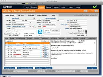 OMB Contacts CRM