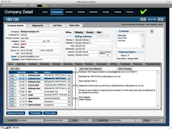 OMB Customer CRM Database